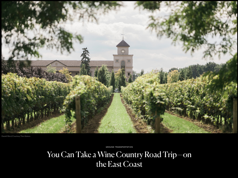 Conde Nast Traveler Wine Country