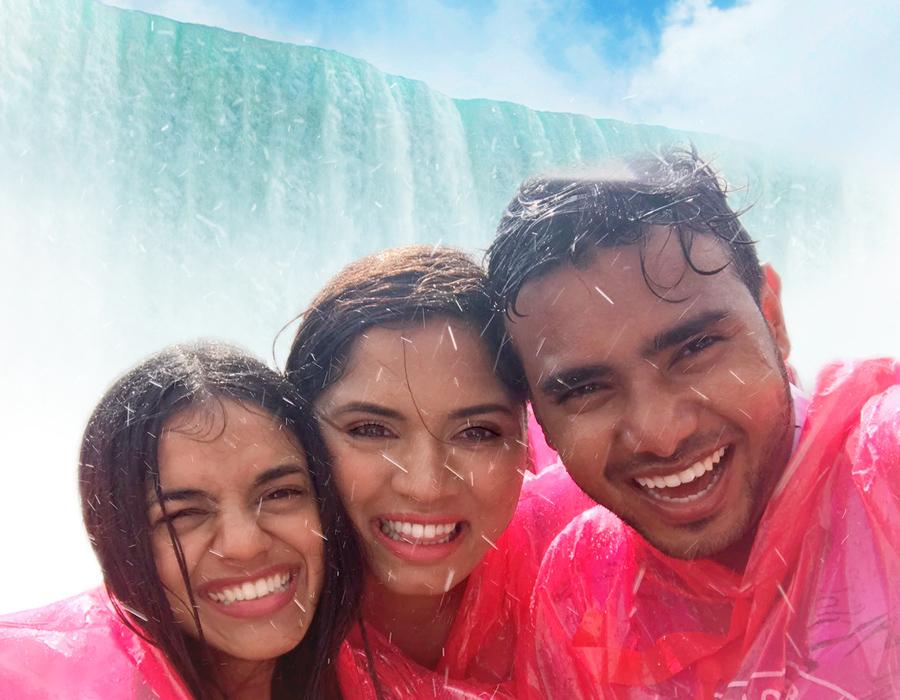 Smiles on Niagara Falls Boat Tour